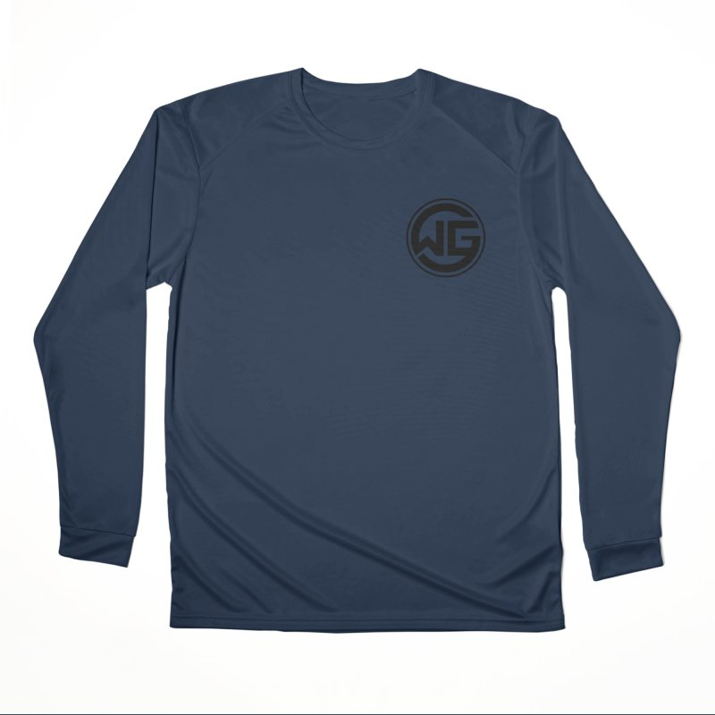 WGG (Black) Men's Performance Longsleeve T-Shirt by The Wicked Good Gaming Shop