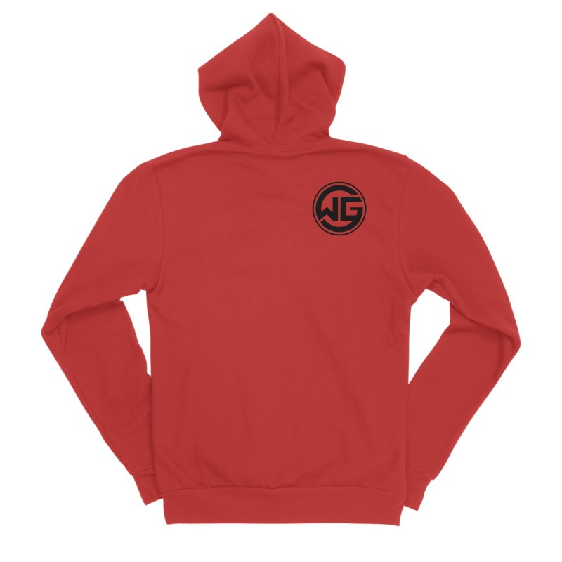 WGG (Black) Men's Zip-Up Hoody by The Wicked Good Gaming Shop