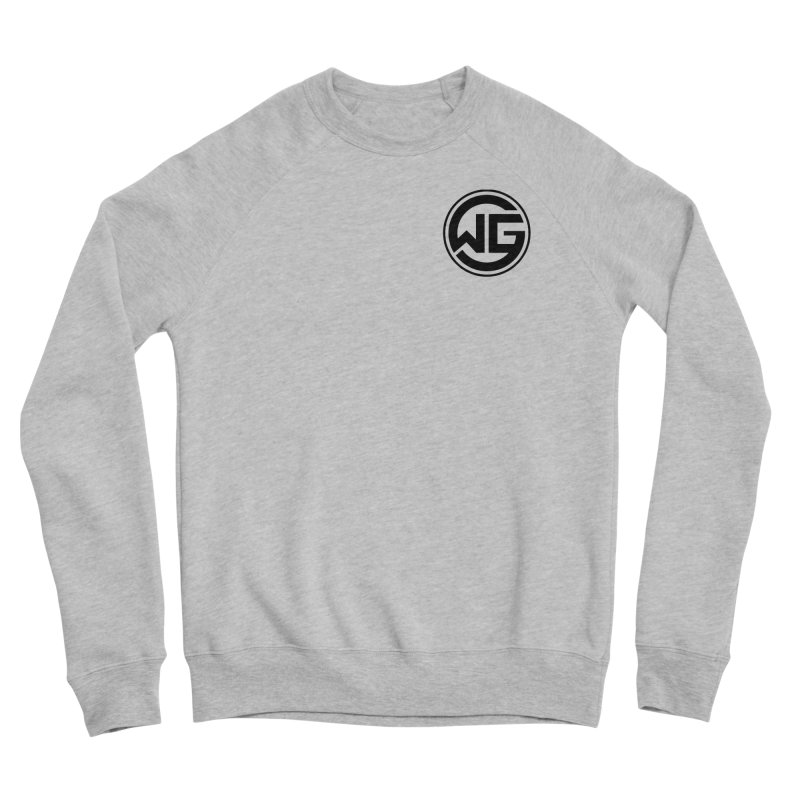 WGG (Black) Men's Sponge Fleece Sweatshirt by The Wicked Good Gaming Shop