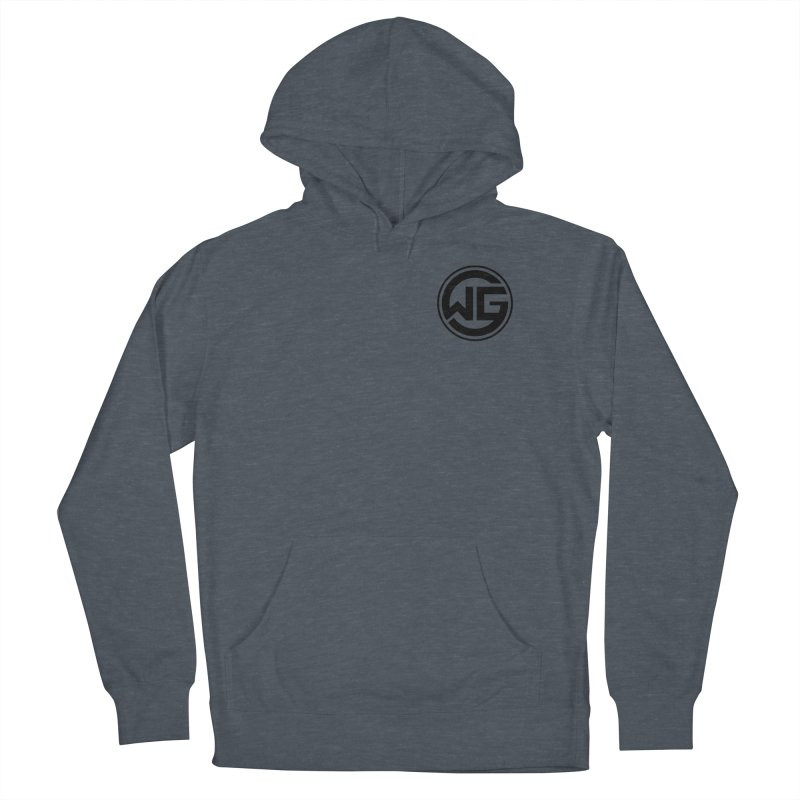 WGG (Black) Men's French Terry Pullover Hoody by The Wicked Good Gaming Shop