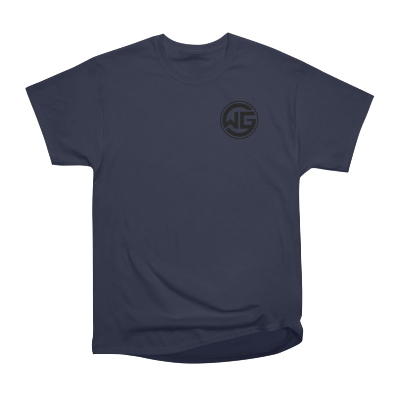 WGG (Black) Men's Heavyweight T-Shirt by The Wicked Good Gaming Shop