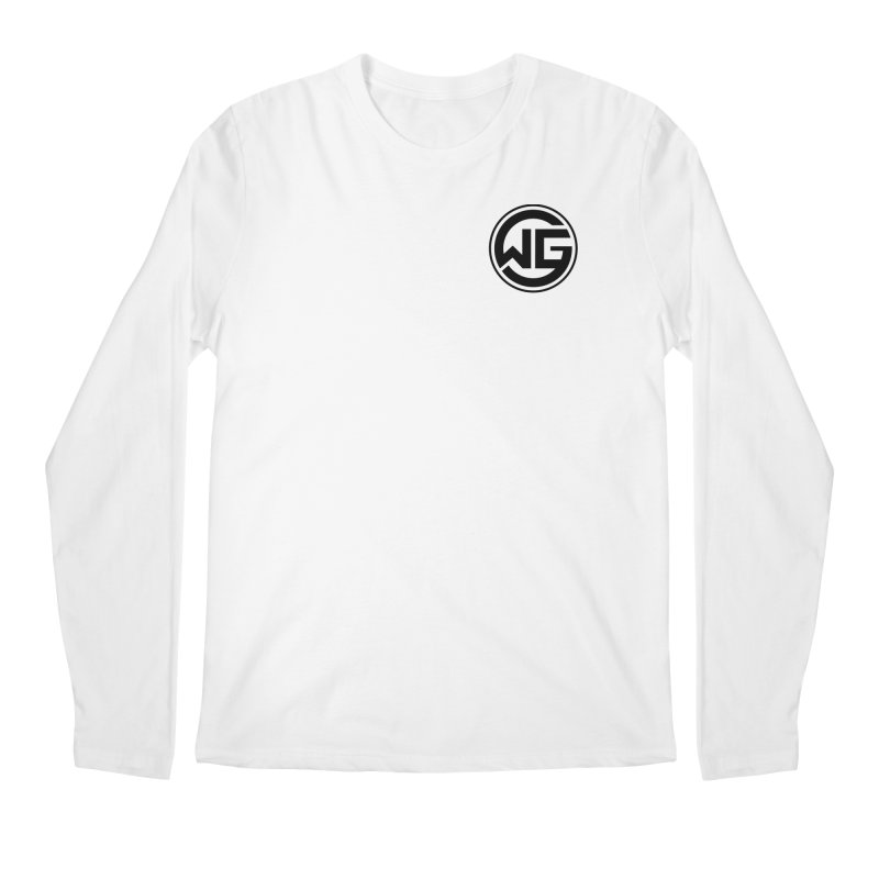 WGG (Black) Men's Regular Longsleeve T-Shirt by The Wicked Good Gaming Shop
