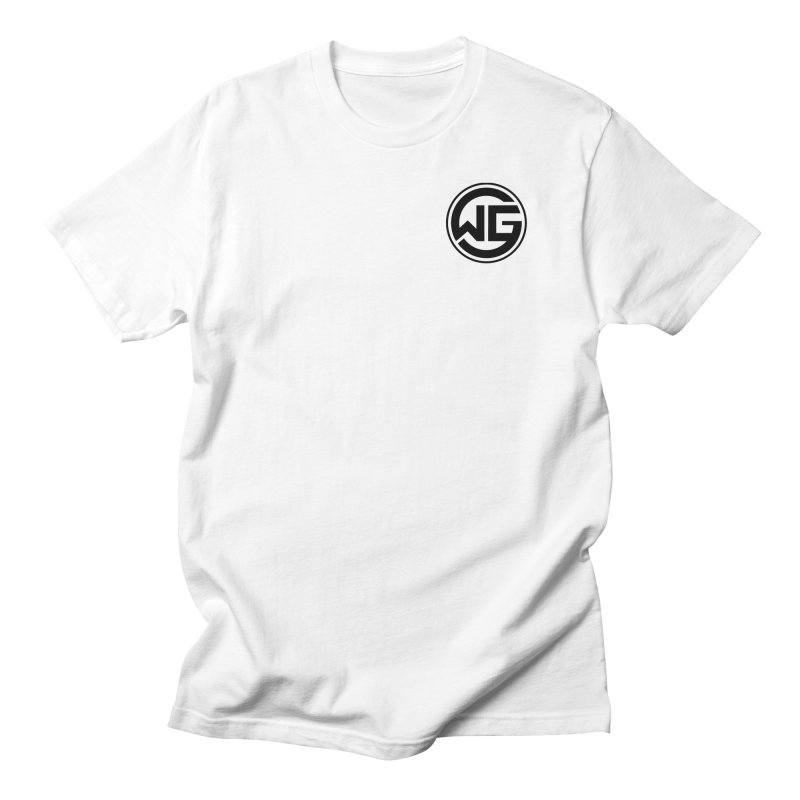 WGG (Black) in Men's Regular T-Shirt White by The Wicked Good Gaming Shop