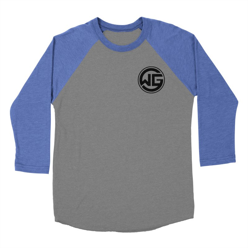 WGG (Black) Women's Baseball Triblend Longsleeve T-Shirt by The Wicked Good Gaming Shop