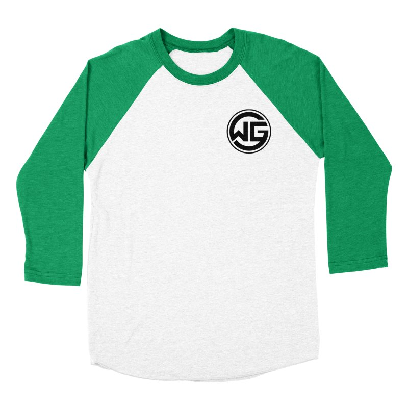 WGG (Black) Men's Baseball Triblend Longsleeve T-Shirt by The Wicked Good Gaming Shop