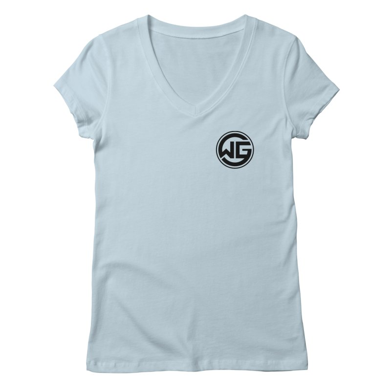 WGG (Black) Women's V-Neck by The Wicked Good Gaming Shop