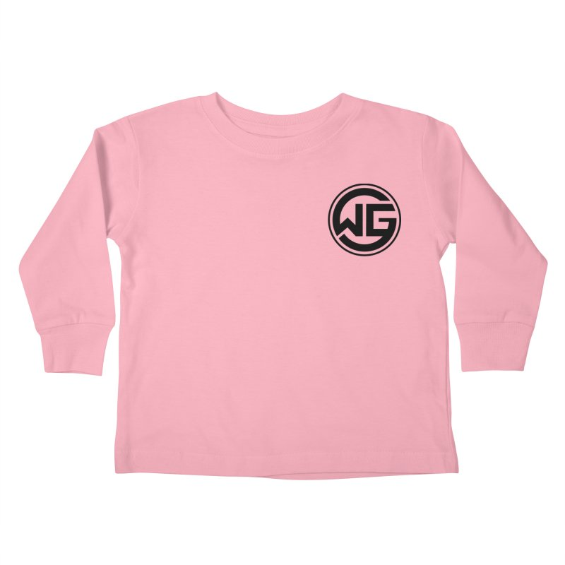 WGG (Black) Kids Toddler Longsleeve T-Shirt by The Wicked Good Gaming Shop
