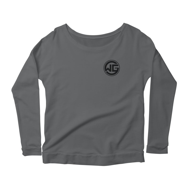 WGG (Black) Women's Scoop Neck Longsleeve T-Shirt by The Wicked Good Gaming Shop