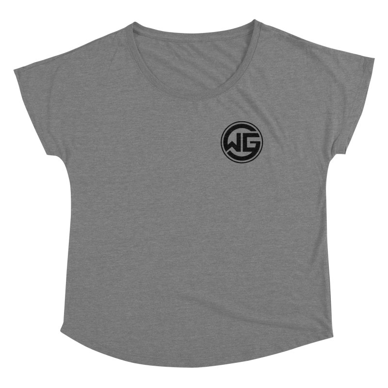 WGG (Black) Women's Scoop Neck by The Wicked Good Gaming Shop