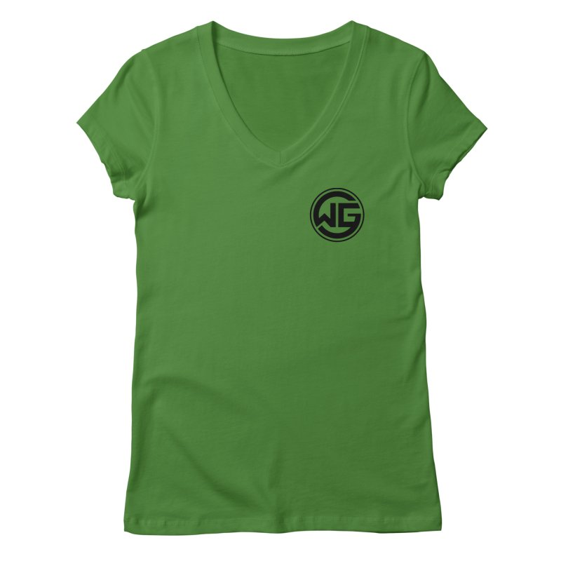 WGG (Black) Women's Regular V-Neck by The Wicked Good Gaming Shop