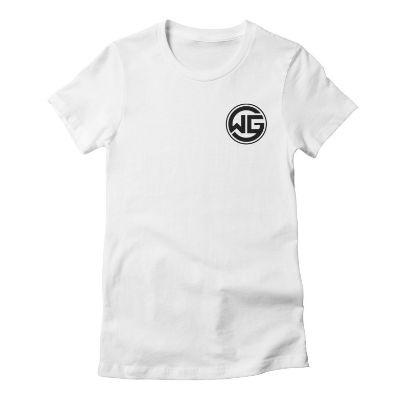 WGG (Black) Women's Fitted T-Shirt by The Wicked Good Gaming Shop