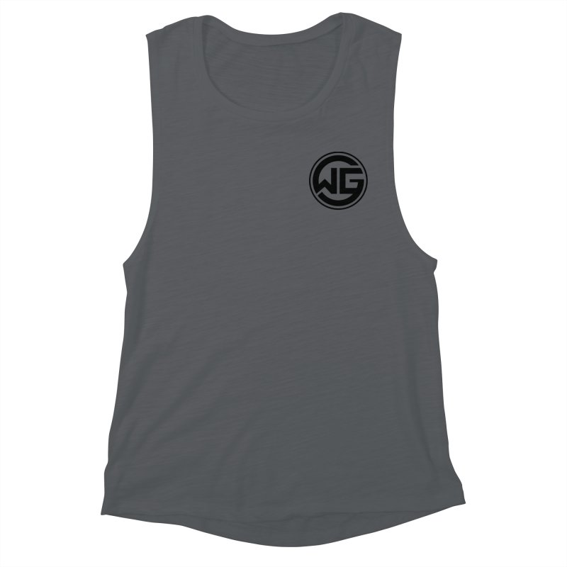 WGG (Black) Women's Muscle Tank by The Wicked Good Gaming Shop