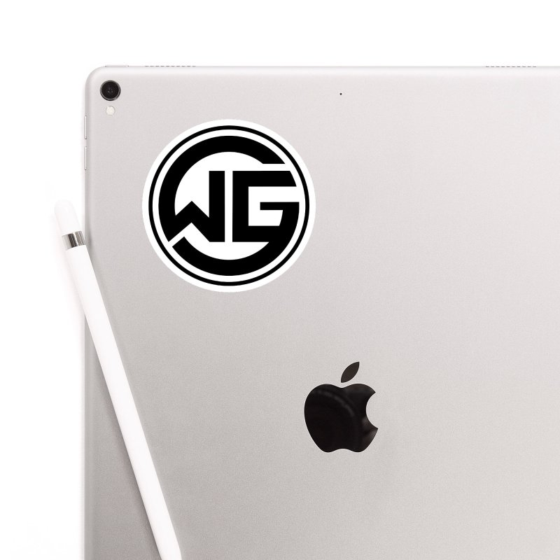 WGG (Black) Accessories Sticker by The Wicked Good Gaming Shop