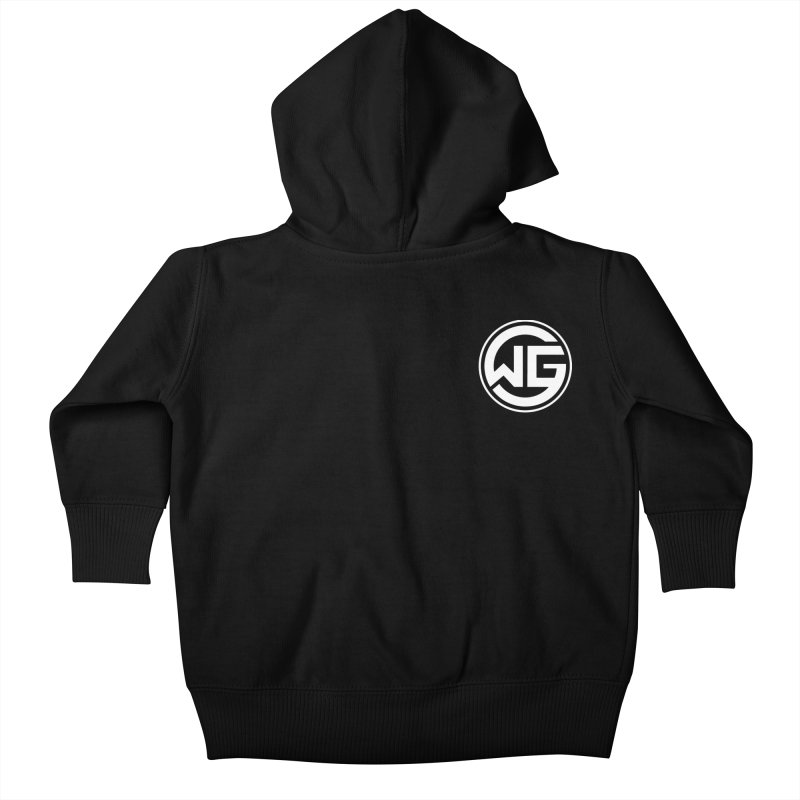 WGG (White) Kids Baby Zip-Up Hoody by The Wicked Good Gaming Shop