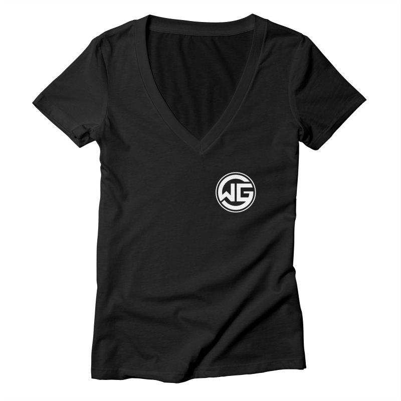 WGG (White) Women's Deep V-Neck V-Neck by The Wicked Good Gaming Shop
