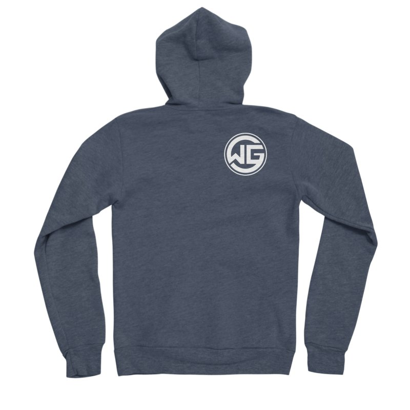 WGG (White) Women's Zip-Up Hoody by The Wicked Good Gaming Shop