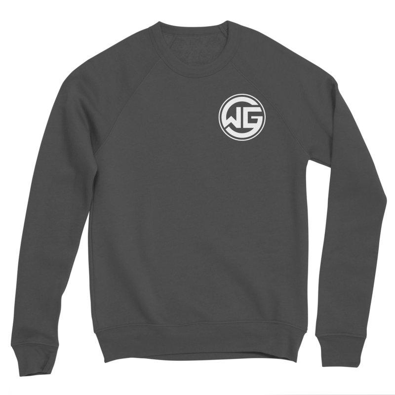 WGG (White) Men's Sponge Fleece Sweatshirt by The Wicked Good Gaming Shop