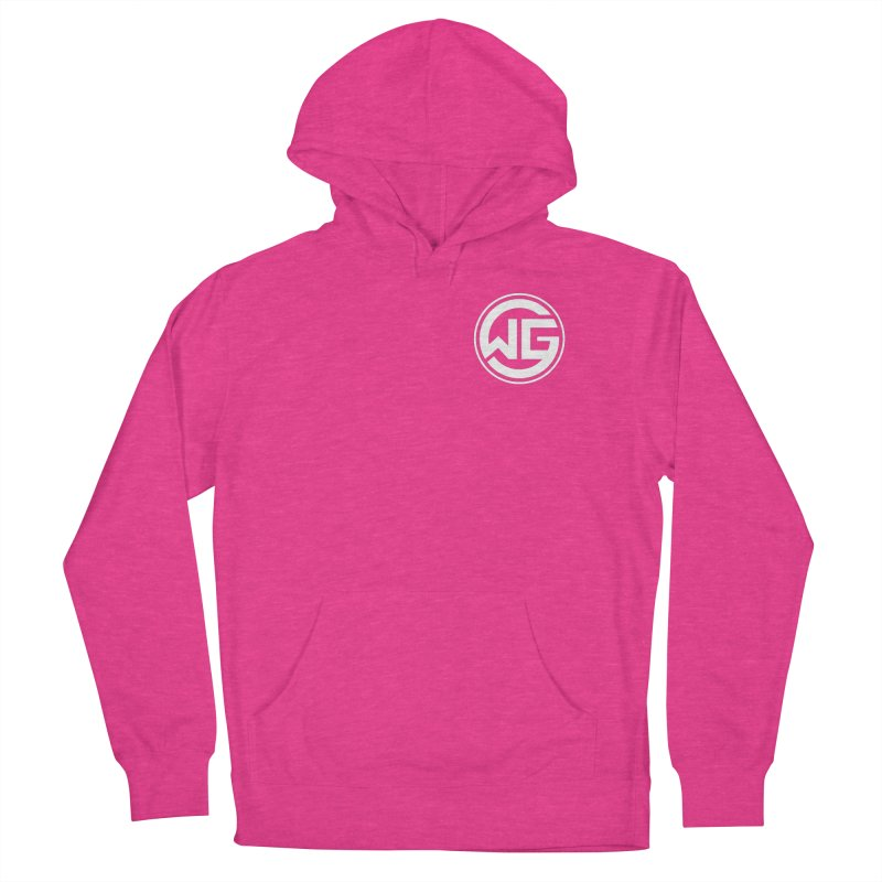 WGG (White) Men's French Terry Pullover Hoody by The Wicked Good Gaming Shop