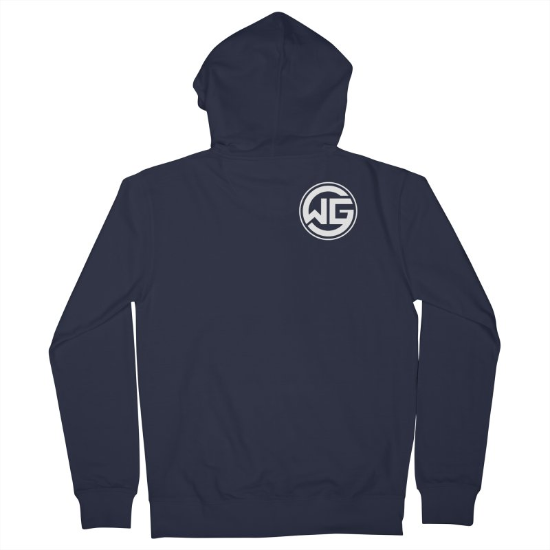 WGG (White) Women's French Terry Zip-Up Hoody by The Wicked Good Gaming Shop