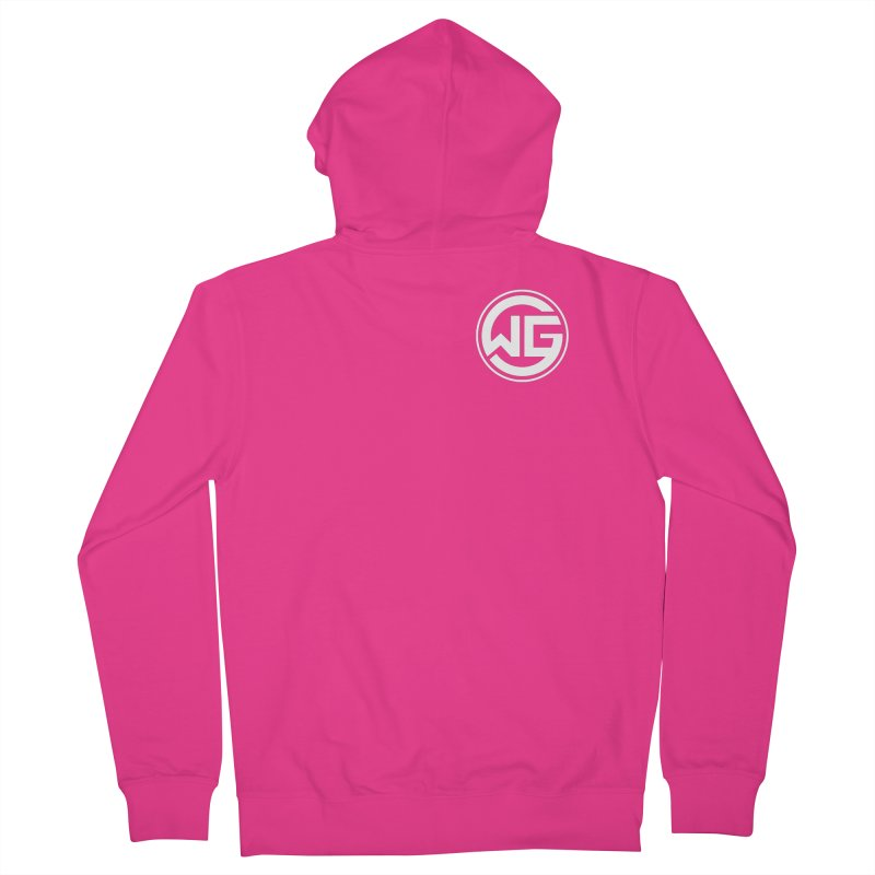 WGG (White) Men's Zip-Up Hoody by The Wicked Good Gaming Shop