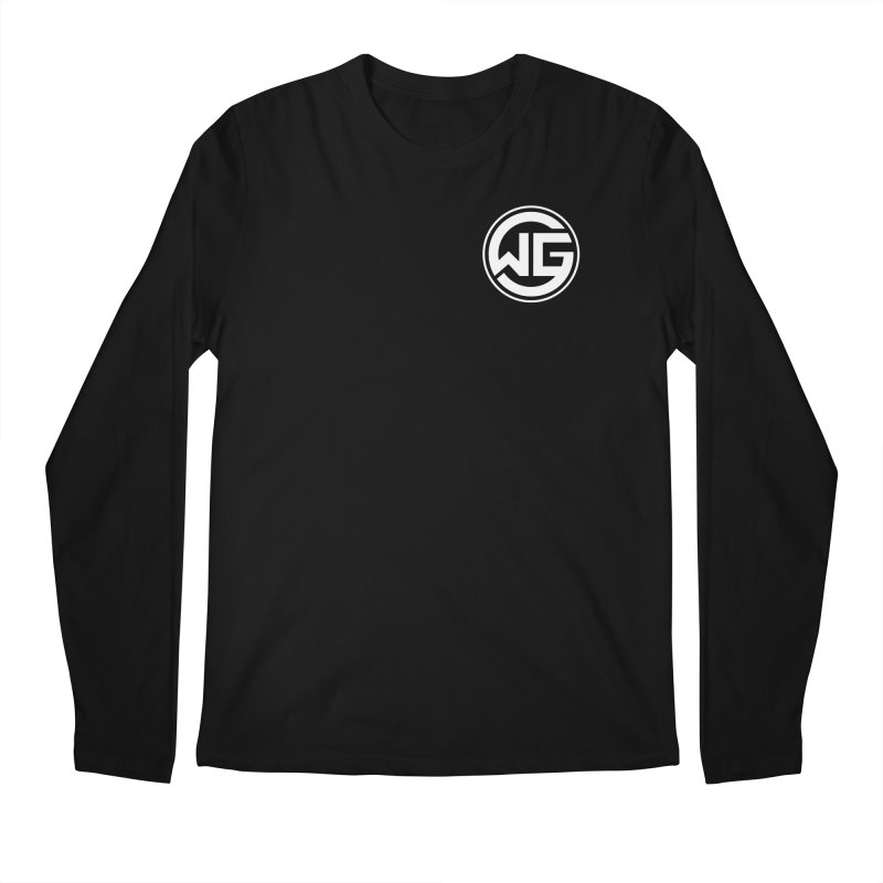 WGG (White) Men's Regular Longsleeve T-Shirt by The Wicked Good Gaming Shop