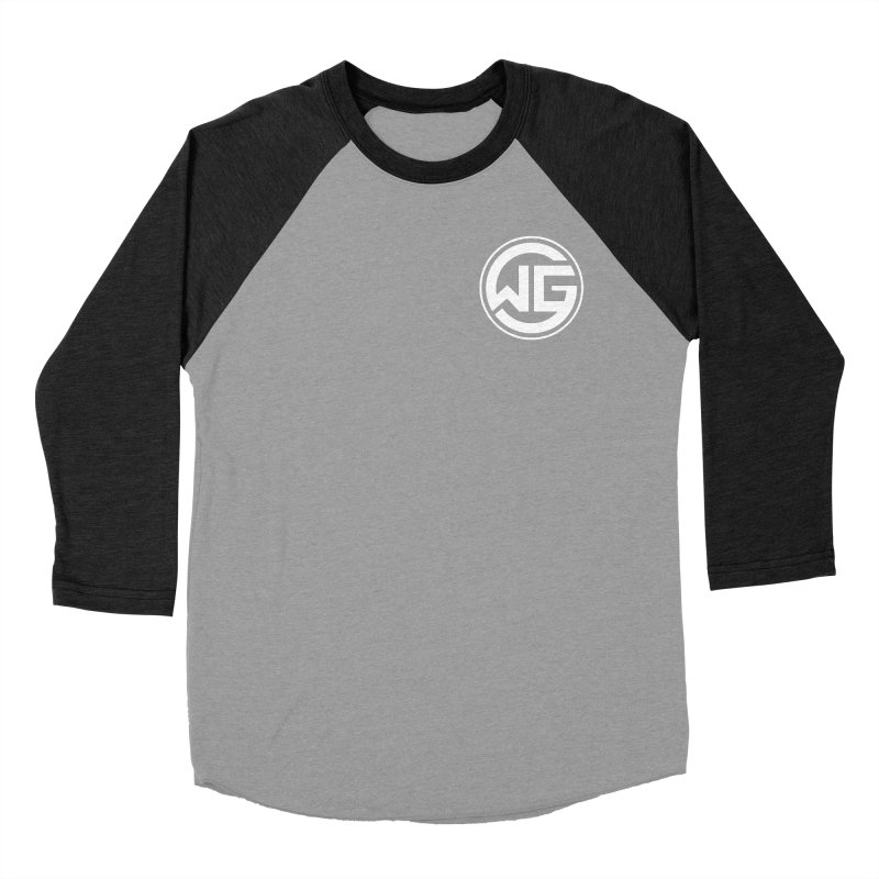 WGG (White) Women's Baseball Triblend Longsleeve T-Shirt by The Wicked Good Gaming Shop