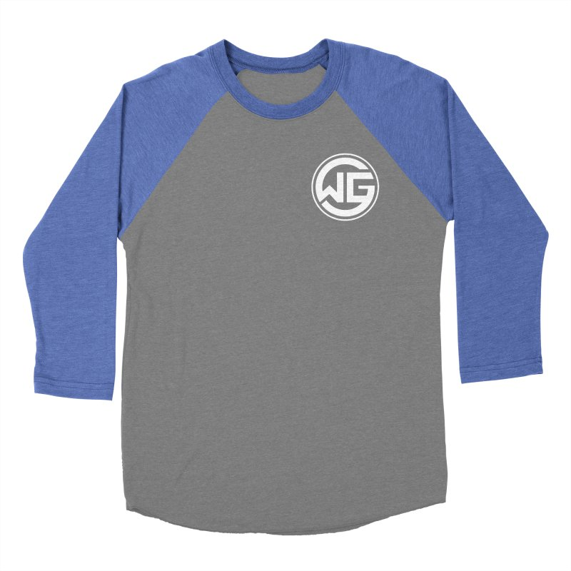 WGG (White) Men's Baseball Triblend Longsleeve T-Shirt by The Wicked Good Gaming Shop