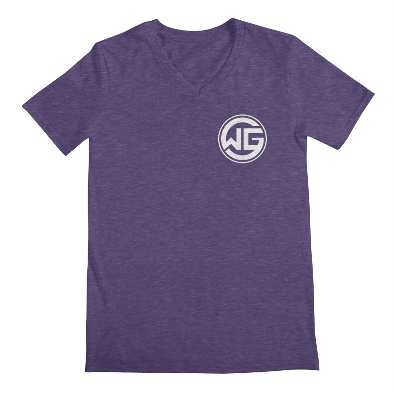 WGG (White) Men's V-Neck by The Wicked Good Gaming Shop