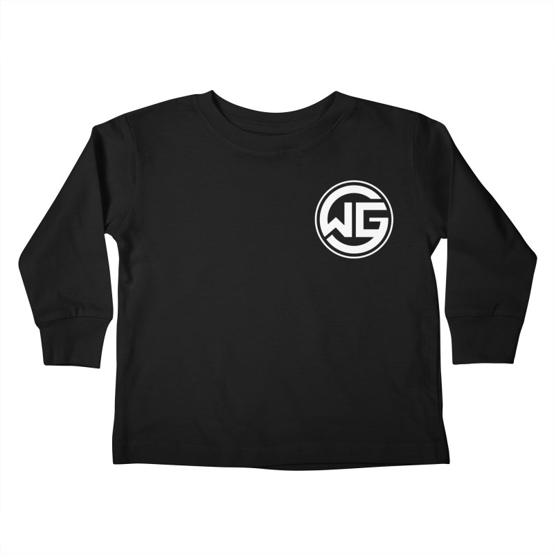 WGG (White) Kids Toddler Longsleeve T-Shirt by The Wicked Good Gaming Shop