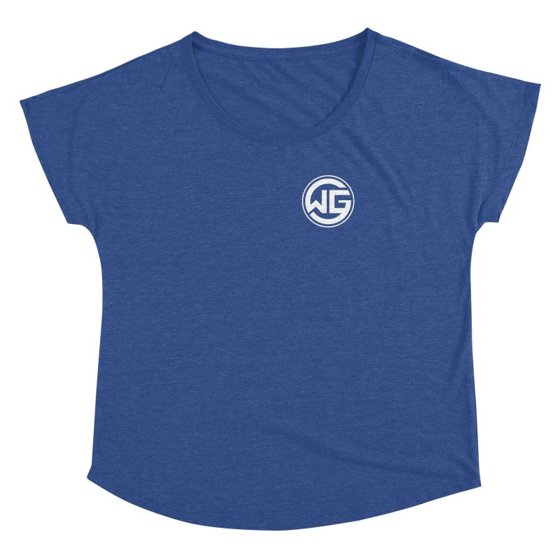 WGG (White) Women's Dolman Scoop Neck by The Wicked Good Gaming Shop