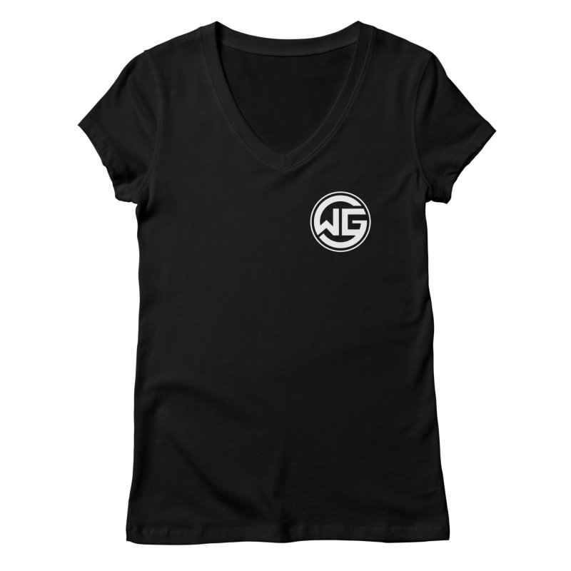 WGG (White) Women's V-Neck by The Wicked Good Gaming Shop
