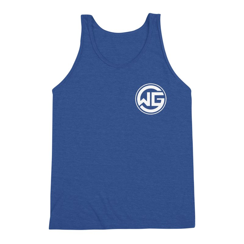 WGG (White) Men's Triblend Tank by The Wicked Good Gaming Shop