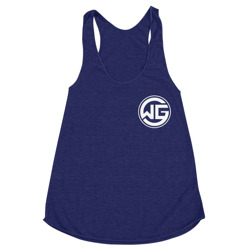 WGG (White) Women's Racerback Triblend Tank by The Wicked Good Gaming Shop
