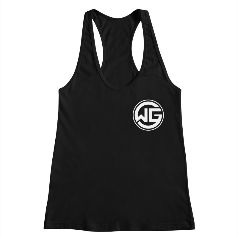 WGG (White) Women's Racerback Tank by The Wicked Good Gaming Shop