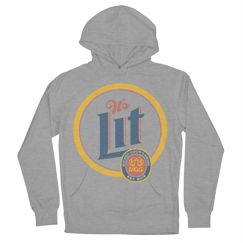 It's Lit Men's Pullover Hoody by The Wicked Good Gaming Shop