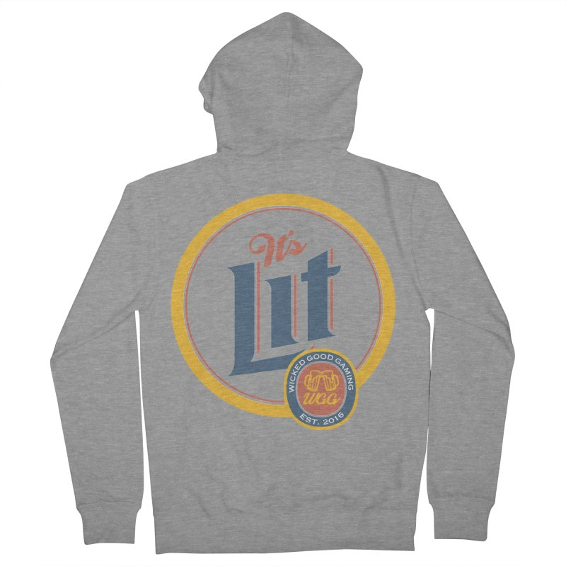 It's Lit Men's Zip-Up Hoody by The Wicked Good Gaming Shop