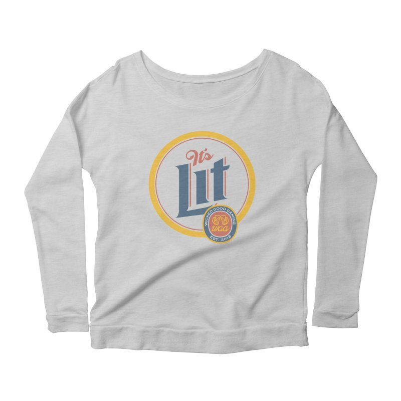 It's Lit Women's Longsleeve Scoopneck  by The Wicked Good Gaming Shop