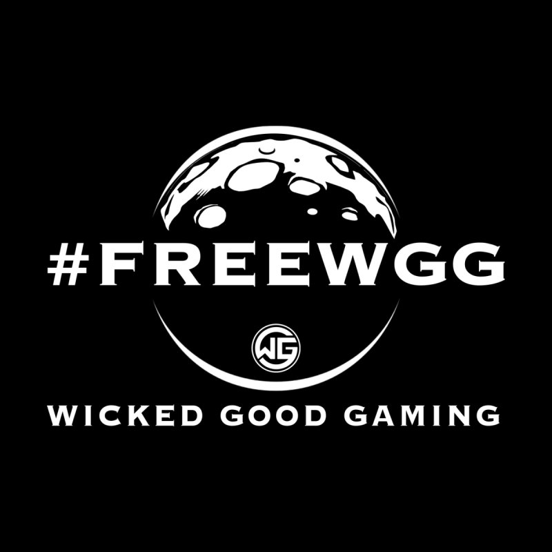 Intergalactic #FreeWGG Men's T-Shirt by The Wicked Good Gaming Shop