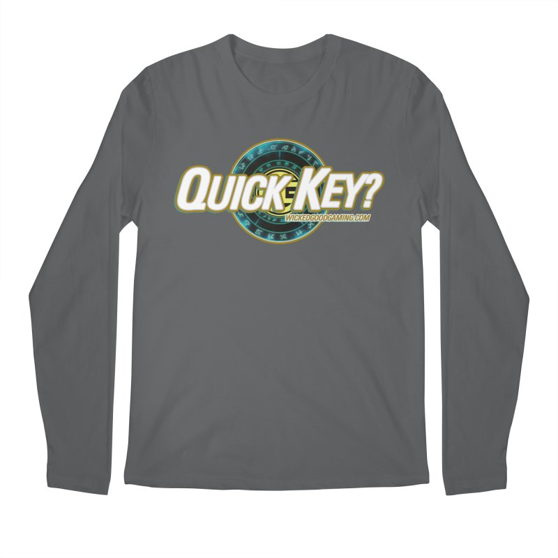 Quick Key? Men's Longsleeve T-Shirt by The Wicked Good Gaming Shop
