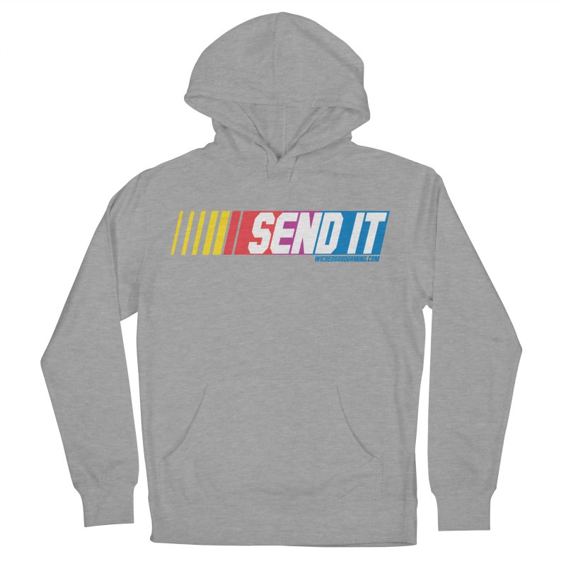 Send It Men's French Terry Pullover Hoody by The Wicked Good Gaming Shop