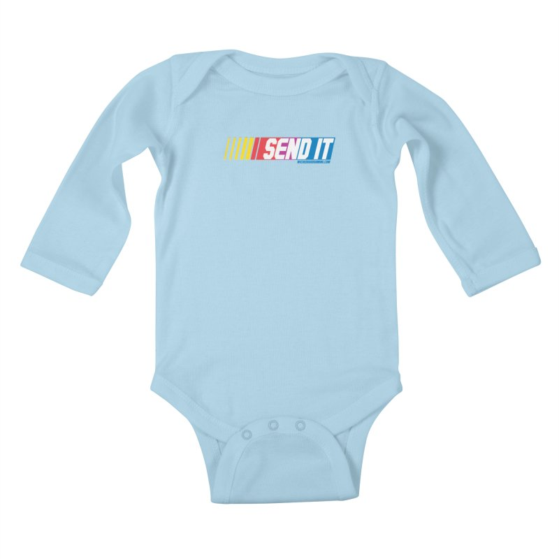 Send It Kids Baby Longsleeve Bodysuit by The Wicked Good Gaming Shop