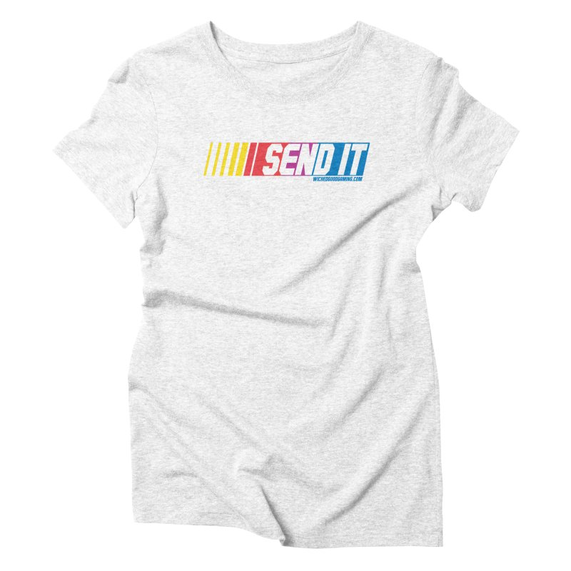 Send It Women's Triblend T-shirt by The Wicked Good Gaming Shop