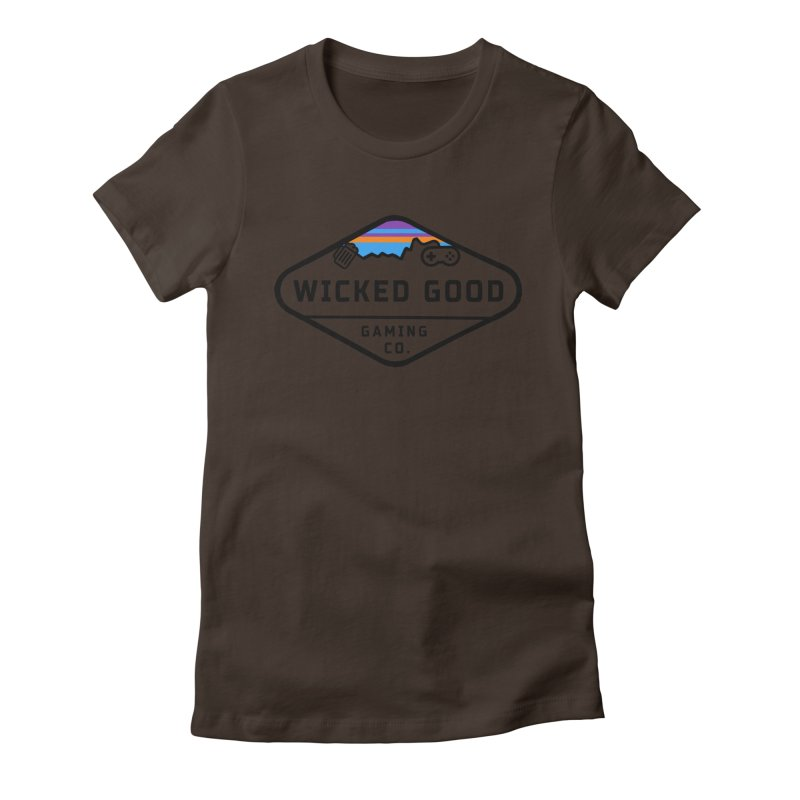 Wicked Outdoorsy Women's Fitted T-Shirt by The Wicked Good Gaming Shop