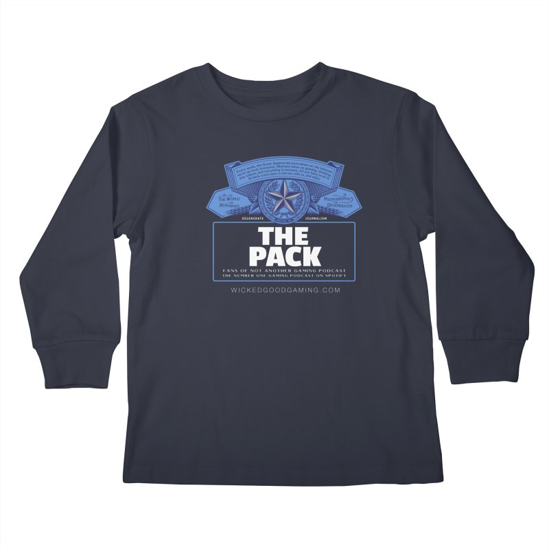 The Pack Kids Longsleeve T-Shirt by The Wicked Good Gaming Shop