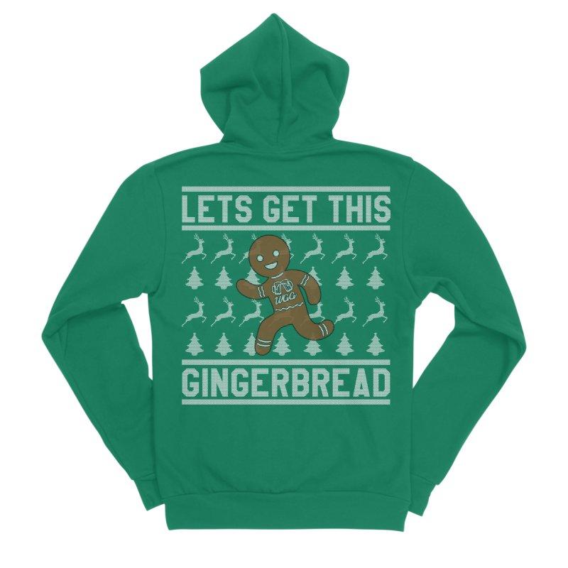 WGG Ugly Sweater 2018 Women's Sponge Fleece Zip-Up Hoody by The Wicked Good Gaming Shop