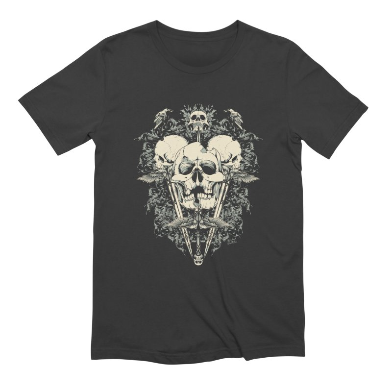 Skulls and Swords in Men's Extra Soft T-Shirt Smoke by Wicked Oddities