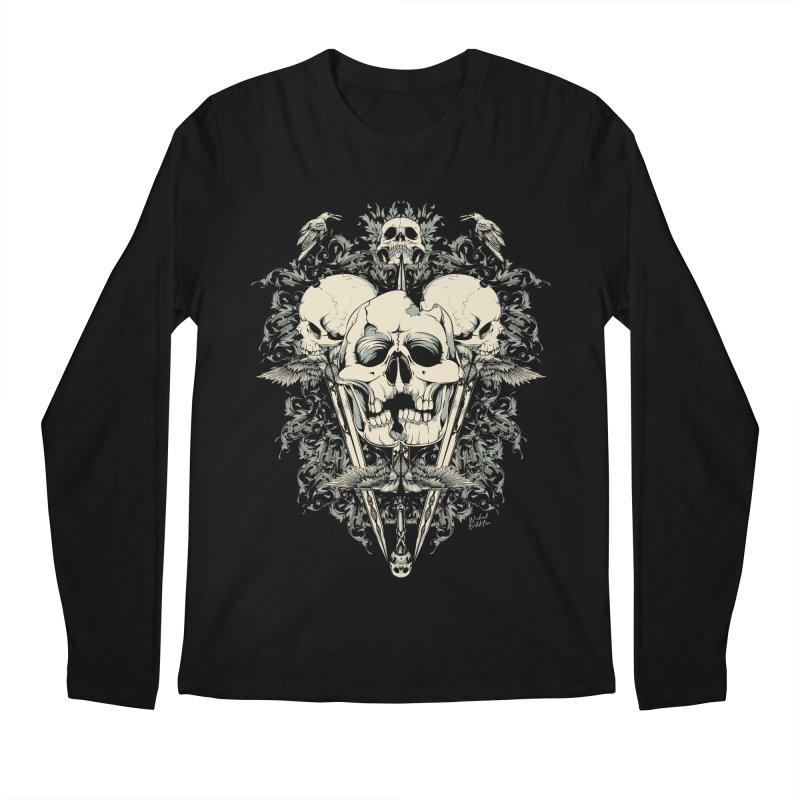 Skulls and Swords Men's Longsleeve T-Shirt by Wicked Oddities