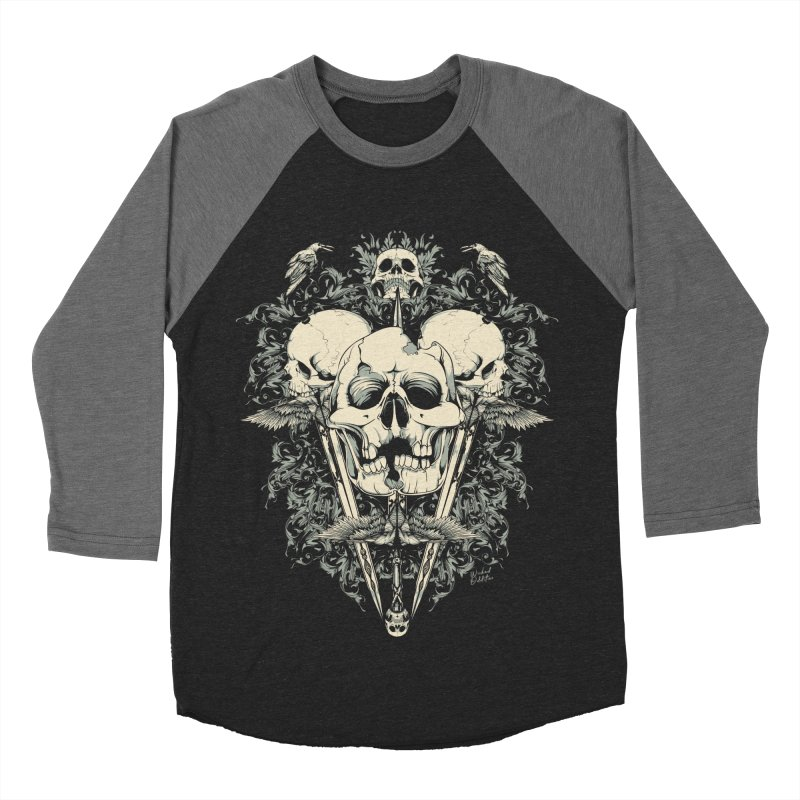 Skulls and Swords Women's Baseball Triblend Longsleeve T-Shirt by Wicked Oddities