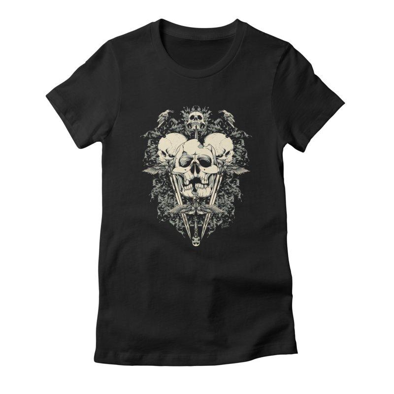 Skulls and Swords Women's T-Shirt by Wicked Oddities