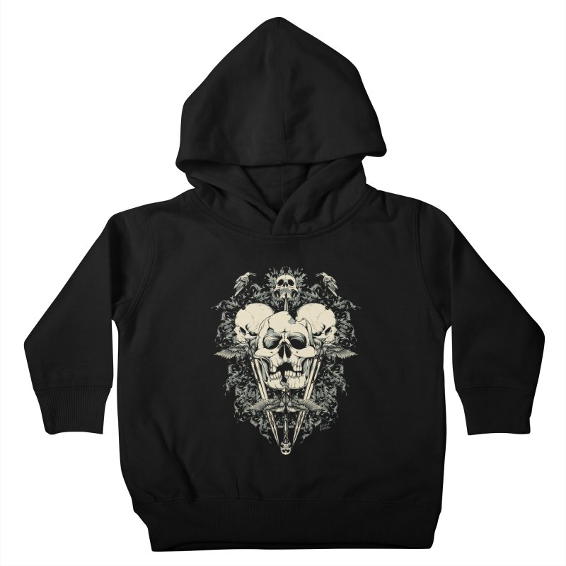 Skulls and Swords Kids Toddler Pullover Hoody by Wicked Oddities